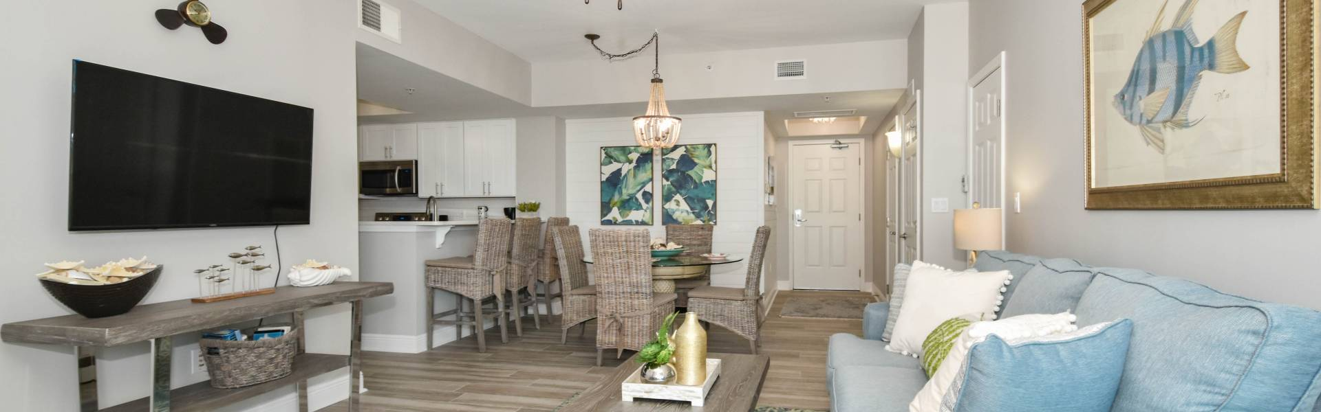 The Palms of Destin 1715 Living Area After Compass Resorts Blog Post Greatest Rental Home Remodels